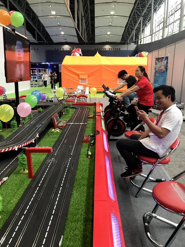 סופר אופני מירוץ משחק מכונת חשמלי מנוע רכב מסלול מירוץ משחק למרכז קניות