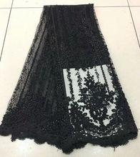 Африканская кружевная ткань, розовая кружевная ткань в нигерийском стиле, 2020, высококачественное кружево с бисером, 5 ярдов, RF475(Китай)