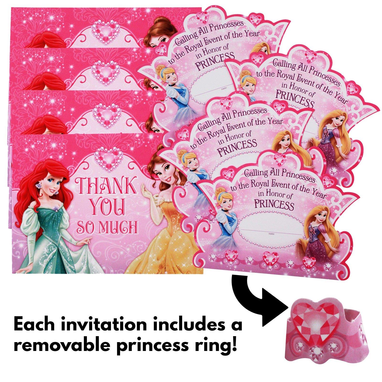 Buy 24pc Disney Princess Hallmark Birthday Party Invitations And