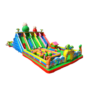 commercial jumping bouncy castle jump bounce house combo slides with clearance