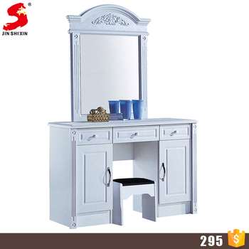 Cheap Simple Design Mdf Wooden Mirror Dressing Table ...