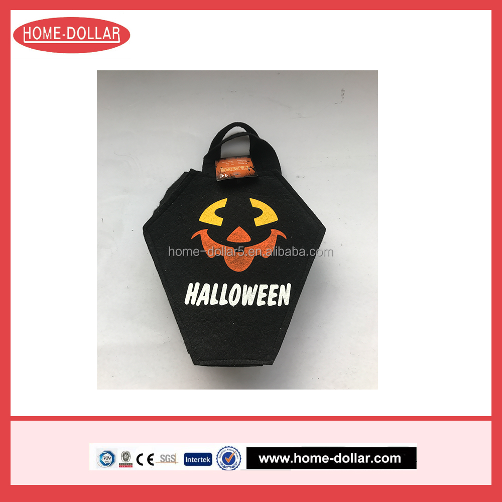 Good quality novelty halloween decoration item felt candy bag