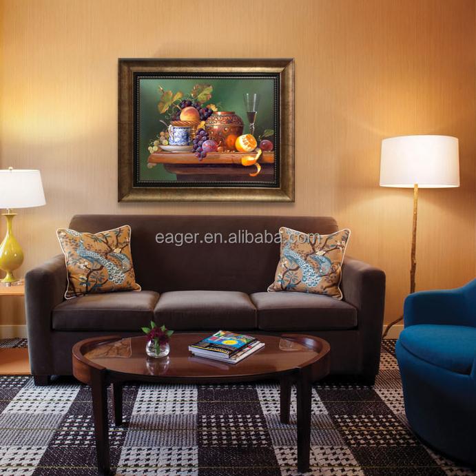 Sí marco arte clásico de la pared realista bodegón pintura al óleo ...