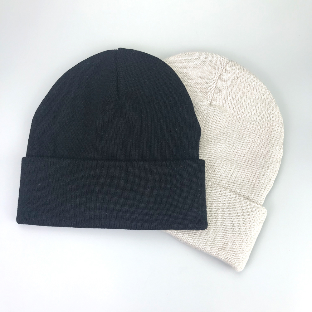 Factory price customized coloful women 100% cotton beanies with custom embroidery logo on front
