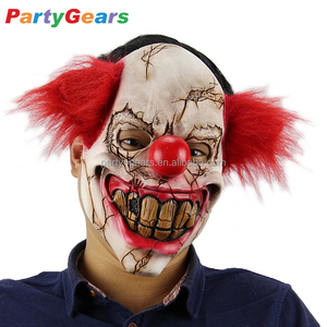 Newly Halloween Funny Smile Scary Rubber Latex Joker Clown Mask