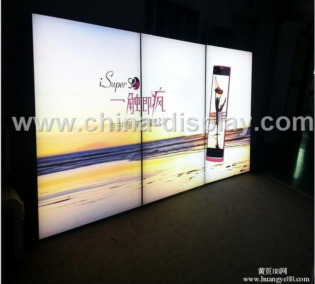 Hot Sale Trade Show Standing Double Sided Led Backlit Exhibition Display