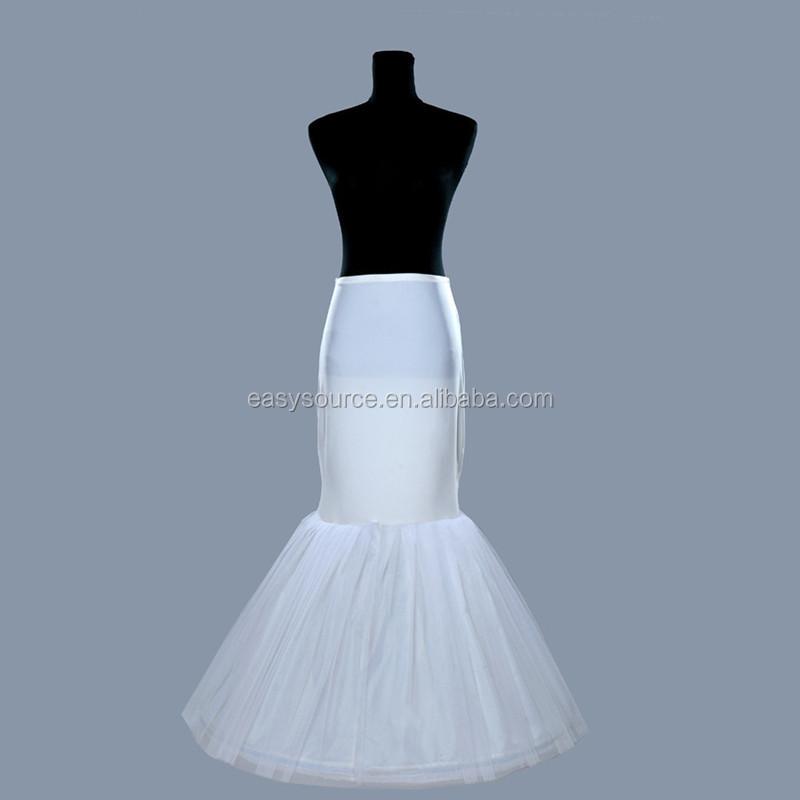 工場直接販売の仕入れにチュール人魚階層化されたフィッシュテール簡素過ぎる服装をする女性ドレスホワイトペチコート-ペチコート問屋・仕入れ・卸・卸売り
