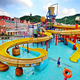 Adult tube water slide factory in china aqua park with fiberglass slides and games attraction water park equipment