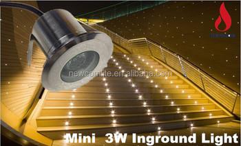 3w12v Colorful Led Underground Light Waterproof Under Deck