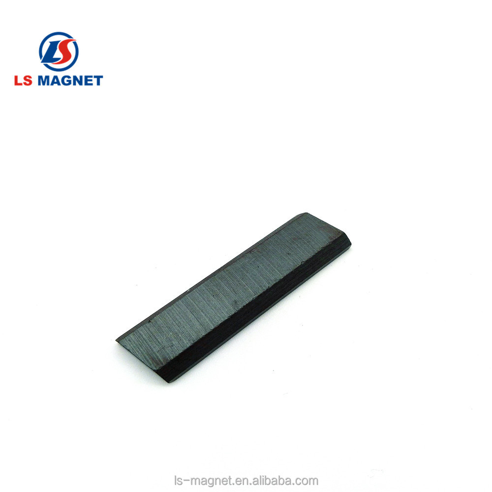 isotropic Ferrite magnet long bar ceramic magnet with angel of chamfer