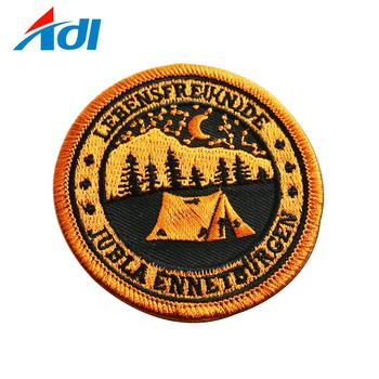Cheap custom school uniform iron on embroidered patches for kids