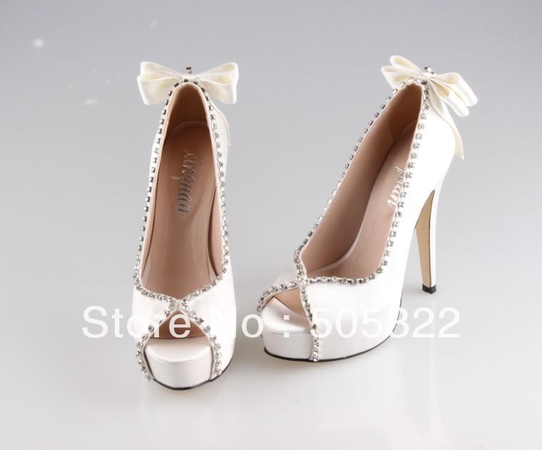 Wedding High Heels Ivory: JWS413 Free Shipping Custom Made Elegant High Heel