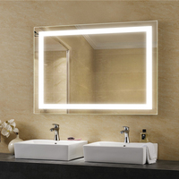 Antifog led bathroom mirrors with demister