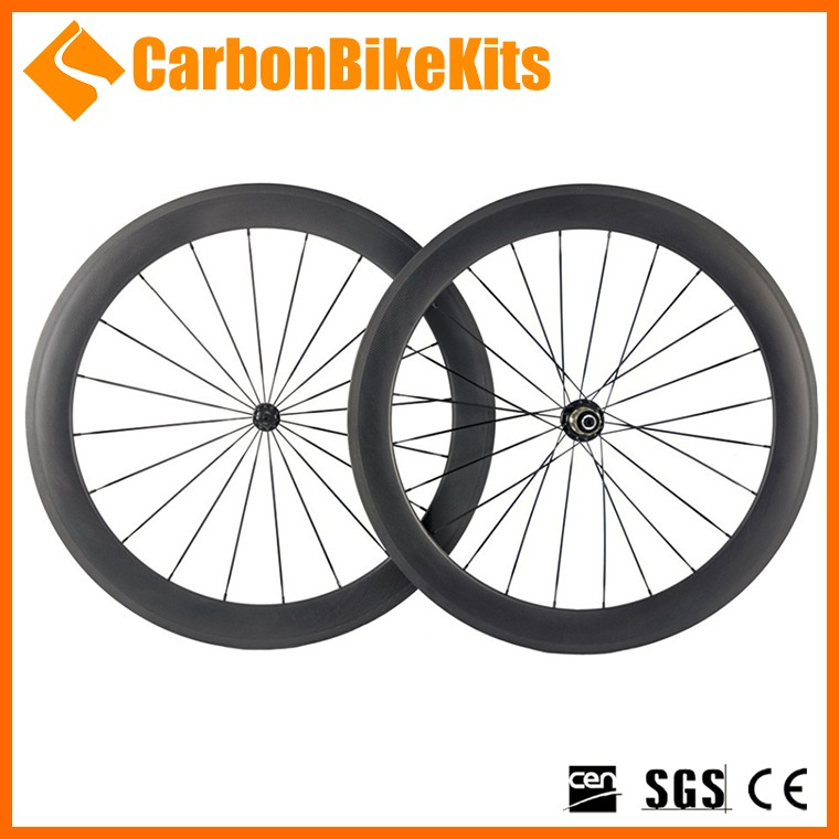CarbonBikeKits PW60T 60mm tubular ruedas mejor wheelset del carbon