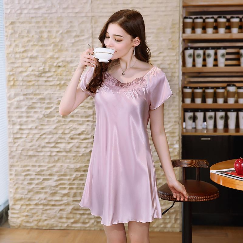 e5126f64a06 high quality sleepwear hot short nighty evening suit for China wholesale  ladies sexy night dress