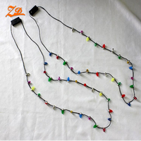 8 flashing light holiday 46cm led christmas light necklace