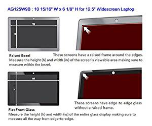 "3M AG125W9B Anti-Glare Filter for 12.5"" Widescreen Laptop - Clear, 16:9, 10 15/16"" W x 6 1/8"" H (155333)"