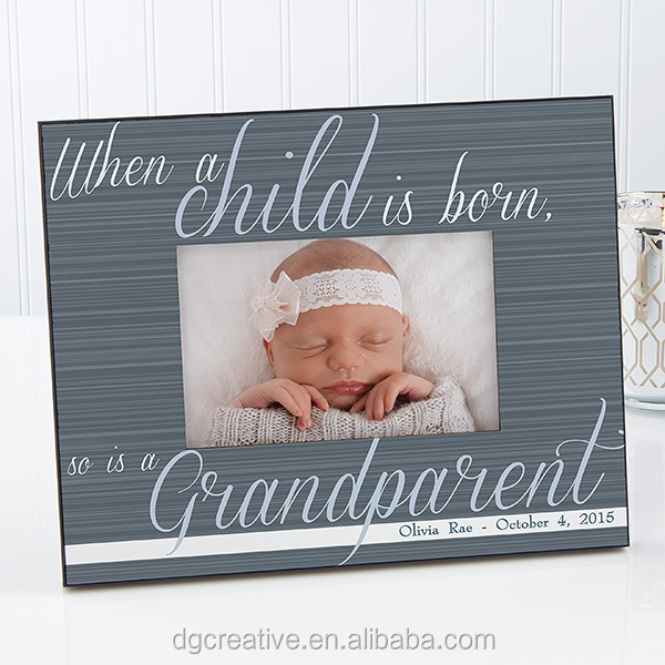 4x6, 5x7, 8x10 A Grandparent Is Born Personalized photo Frame