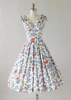 MIKA3047 2016 Women Vintage 1950s Butterfly Novelty Print Summer Dress