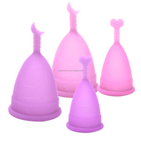 Medical Grade FDA Soft Diva Silicone folding Menstrual Cup Lady Period Cup
