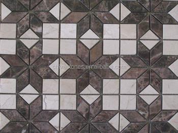 Chiva marrone mattonelle di mosaico tessere di mosaico per pavimento