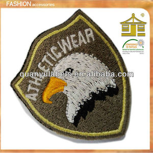 2018 Hotsale fashion custom Hand made and machine made embroidery military woven Badge sew on patch factory price in guangzhou