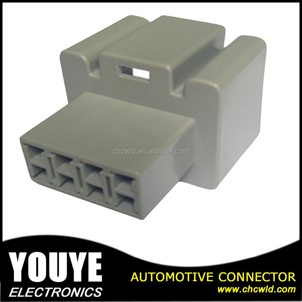 Automotive Female 8 pin YY7082A-2.8-11 Gray PBT connector