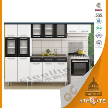 Brazil style metal kitchen cabinets cheap factory kitchen for Budget kitchen cabinets ltd