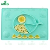 Rich color unmovable Silicone baby Placemat Whale Design suction placement for Kids, Toddlers & Babies