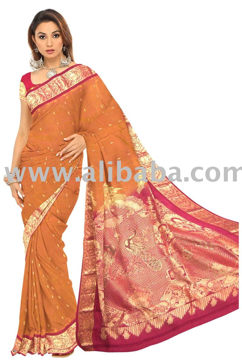 Silk Sarees-kanchipuram - Buy Kanchipuram -silk Sarees Product on  Alibaba com