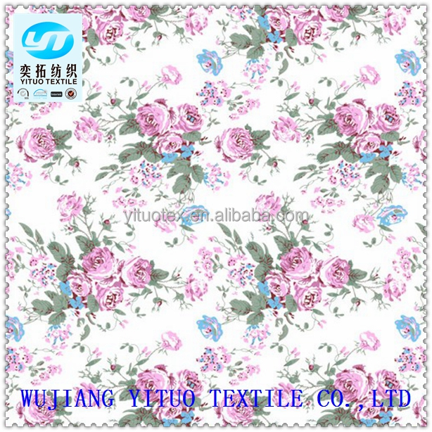 YT Hi-Q Low price Wholesale printed korean chiffon fabric price per meter