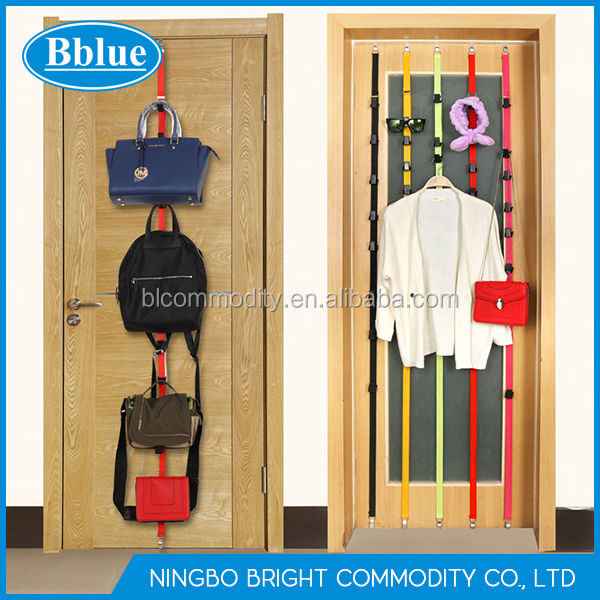 Adjustable Seamless Door Hook Multi-purpose Storage Rope Door Back Hanging Rope