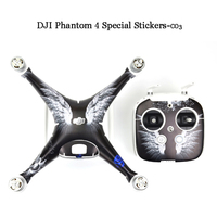 Waterproof 3M PVC Skin Stickers for DJI Phantom 4 Quadcopter Drone accessories parts D5