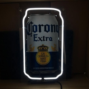 wholesale corona steel ring pull can neon beer bar sign for home bar clubs neon wall sign custom