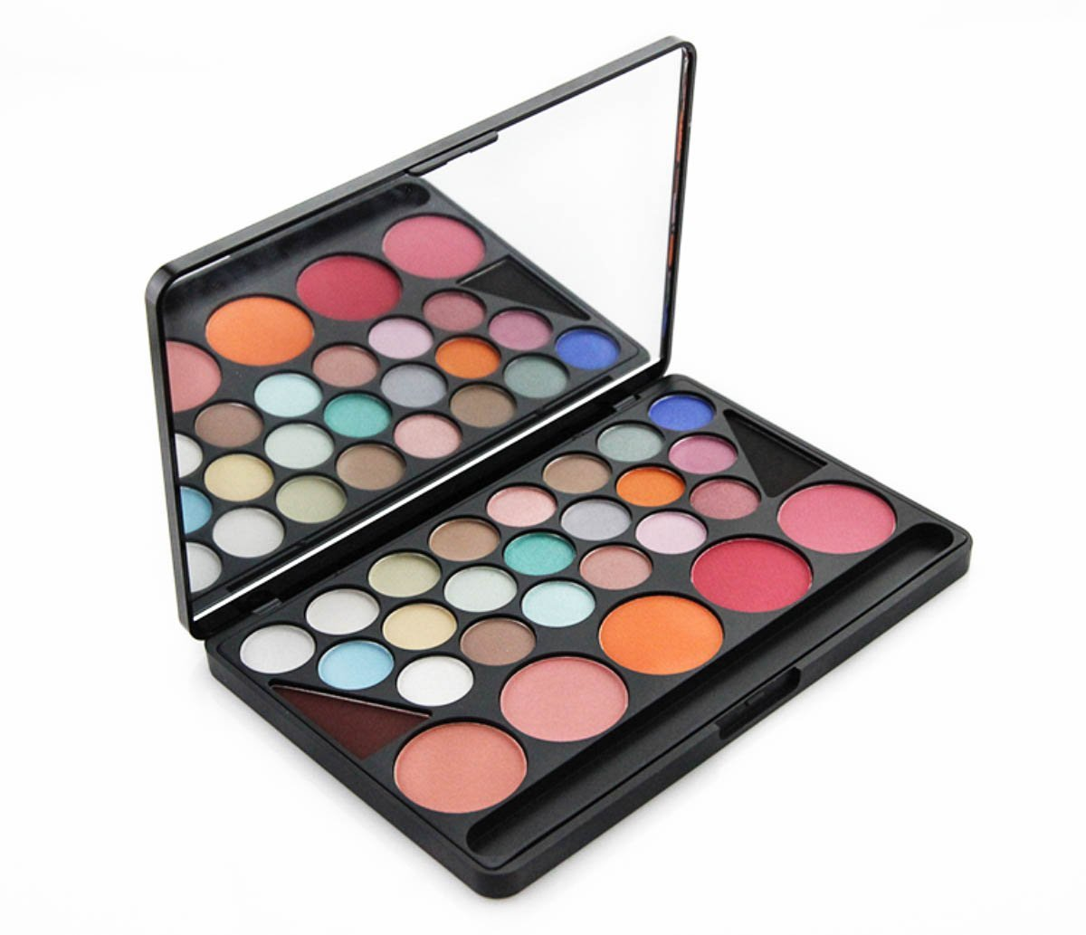 Frola cosmetics - Professional 28 Color Makeup Pad Palette Kit Set Inlucde Eyeshadow, Blush and Powder (#02)