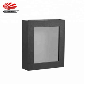 Wholesale PVC Window Customized Logo Boxes Luxury Matte Black Packaging Paper Magnetic Closure Gift Box
