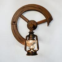 Malaysia resort decor Solid Wood lighting iron latten wall lamp
