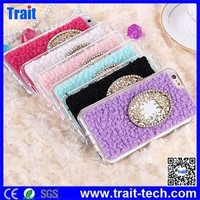 Girl Favorite Fashion Wool Coated Design Fexible TPU Cover Case for iPhone 6 4.7 inch