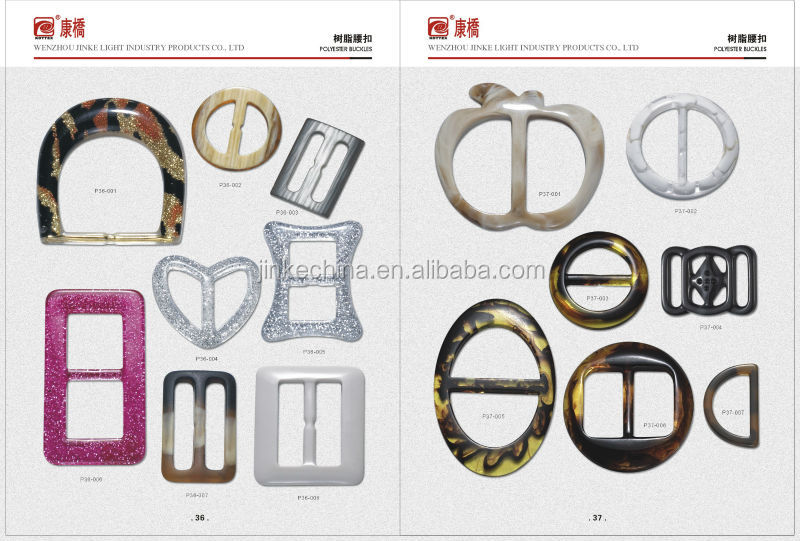 Fashion decorative resin belt buckle for garment accessory