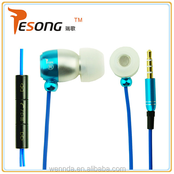 Shenzhen top popular pencil earphones for mobile phon