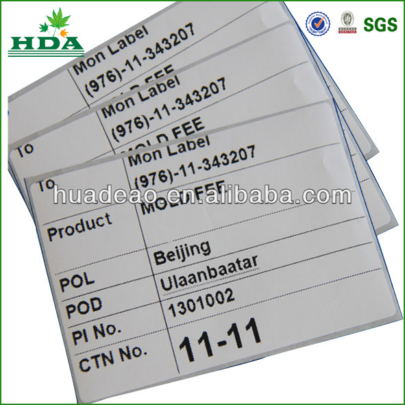 new design self adhesive tire label