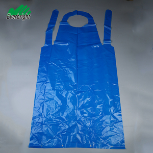 China factory medical plastic blue pe apron disposable for food processing