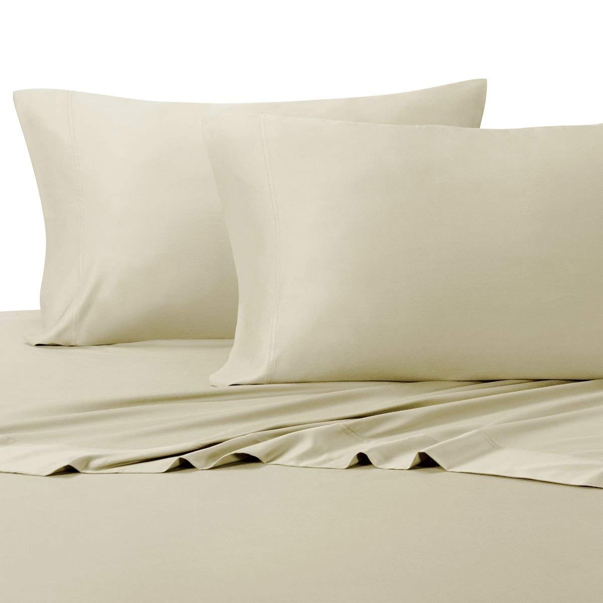 Simply Linens Silky Soft Bamboo Cotton Sheet Set, 100% Bamboo-Cotton Bed Sheets Twin XL, Sand