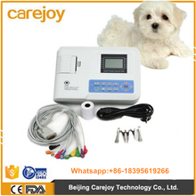 Veterinary Use Portable Digital 1 channel Electrocardiograph ECG EKG-901V-2 Machine with printer