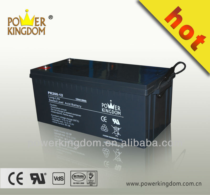 Power Kingdom Lead Acid Battery 12V200AH for UPS, VRLA battery , Rechargeable AGM Battery