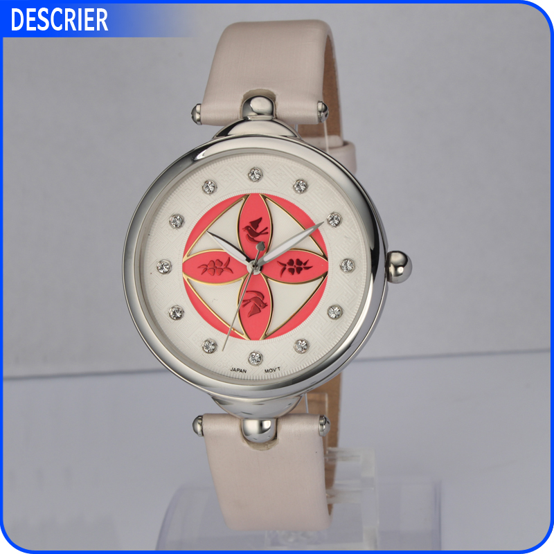 photo girls high sweet fashion design quality women ladies wrist gold goods watches flower fabric cloth dress watch new