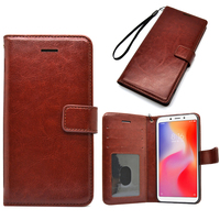 Flip Leather Wallet Case for Xiaomi Redmi 6