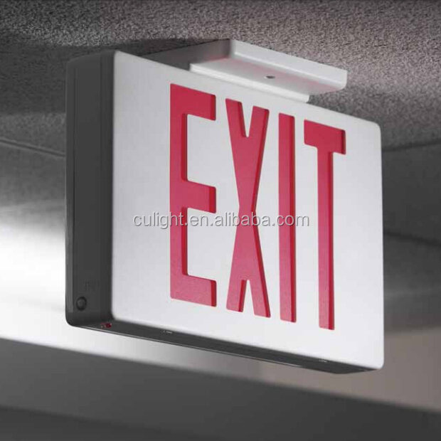 Ultra Bright Exit Sign Emergency Light Pipe Combo All Led