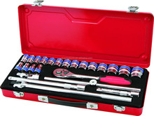 High Quality 24 Pieces 1/2'' Dr. Socket Wrench Set