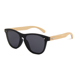Ready stock one piece lens wooden bamboo sunglasses 2018